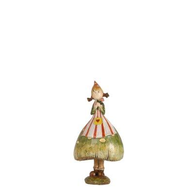Spring Mushroom Girl on April Figurine (Set of 2) HLDY1358 30308478