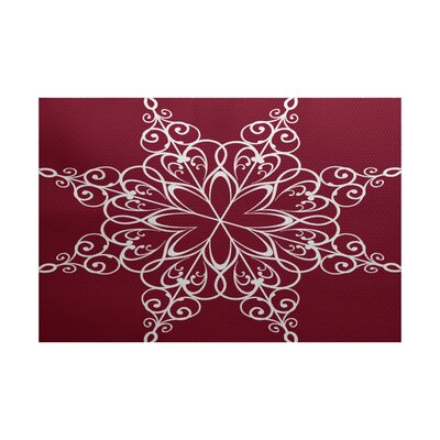Red Indoor/Outdoor Area Rug Rug Size: 2 x 3