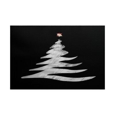 Christmas Black Indoor/Outdoor Area Rug Rug Size: 3 x 5
