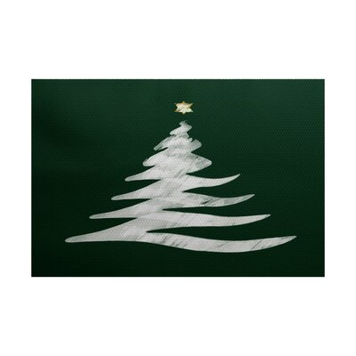 Christmass Tree Green Indoor/Outdoor Area Rug Rug Size: 2 x 3
