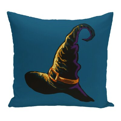 Witch Hat Outdoor Throw Pillow Color: Blue