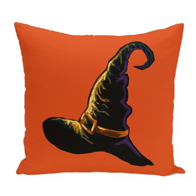 Witch Hat Outdoor Throw Pillow Color: Orange