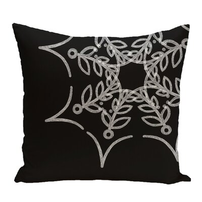 Spider Web Outdoor Throw Pillow Color: Black