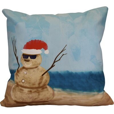 Snowmen Throw Pillow Size: 26 H x 26 W