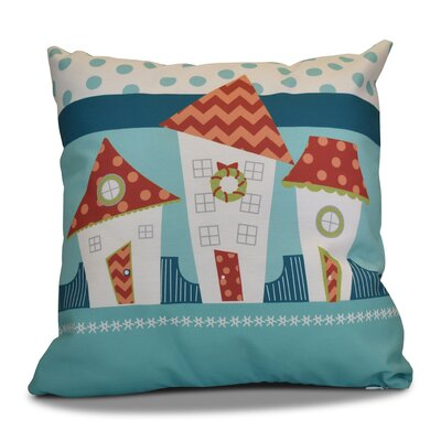 Decorative Holiday Geometric Print Throw Pillow Size: 16 H x 16 W, Color: Coral