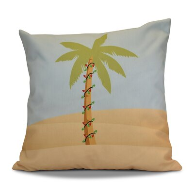 Decorative Holiday Geometric Print Throw Pillow Color: Light Blue, Size: 18 H x 18 W