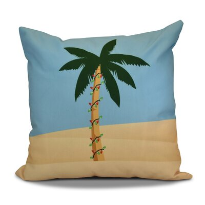 Decorative Holiday Geometric Print Throw Pillow Size: 16 H x 16 W, Color: Blue