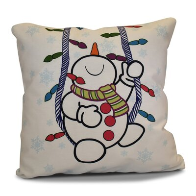 Winter Whimsy Outdoor Throw Pillow Size: 18 H x 18 W