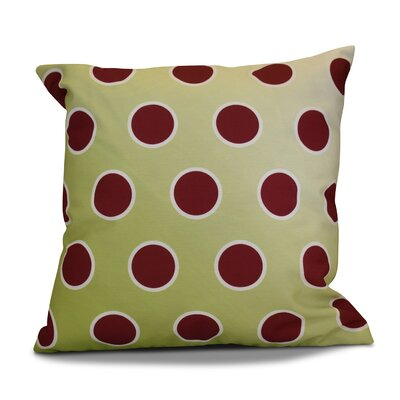 Holiday Bubbly Decorative Outdoor Throw Pillow Size: 16 H x 16 W, Color: Light Green