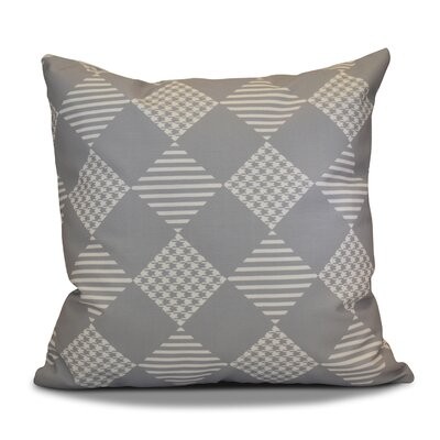 Geometric Outdoor Throw Pillow Size: 18 H x 18 W, Color: Gray