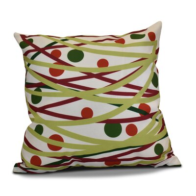 Doodle Decorations Outdoor Throw Pillow Size: 16