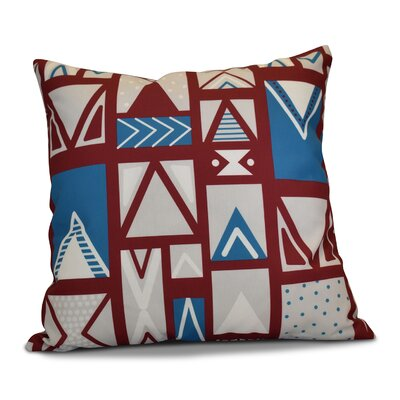 Christmas Outdoor Throw Pillow Size: 16 H x 16 W, Color: Cranberry