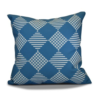 Geometric Outdoor Throw Pillow Size: 20 H x 20 W, Color: Teal