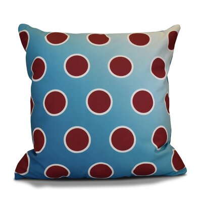 Holiday Bubbly Decorative Outdoor Throw Pillow Color: Teal, Size: 18 H x 18 W