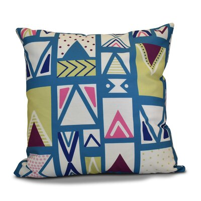 Christmas Outdoor Throw Pillow Color: Navy Blue, Size: 18 H x 18 W