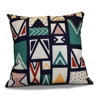 Christmas Outdoor Throw Pillow Size: 18 H x 18 W, Color: Teal
