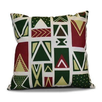 Christmas Outdoor Throw Pillow Size: 20 H x 20 W, Color: White