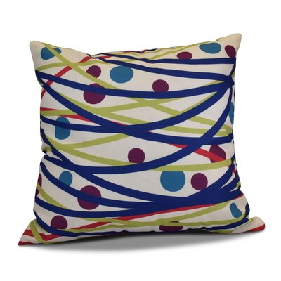 Doodle Decorations Throw Pillow Size: 16 H x 16 W, Color: Royal Blue