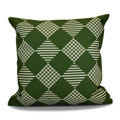 Geometric Outdoor Throw Pillow Size: 16 H x 16 W, Color: Green