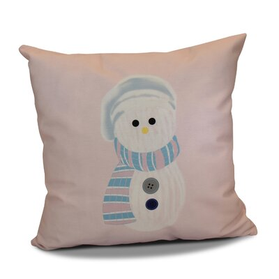 Sock Snowman Throw Pillow Size: 18 H x 18 W, Color: Pale Pink
