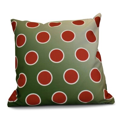 Holiday Bubbly Decorative Outdoor Throw Pillow Size: 18 H x 18 W, Color: Green