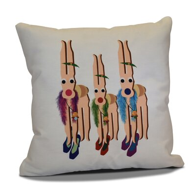 Merry Angels Throw Pillow Size: 16 H x 16 W