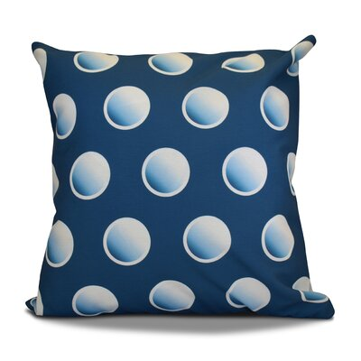 Dip Dye Dots Outdoor Throw Pillow Size: 16 H x 16 W, Color: Teal