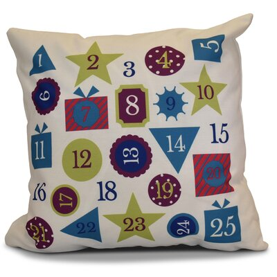 Advent Calendar Throw Pillow Size: 18 H x 18 W, Color: Royal Blue