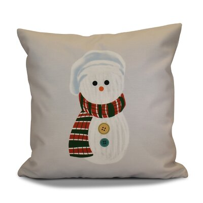 Sock Snowman Throw Pillow Size: 18 H x 18 W, Color: Gray