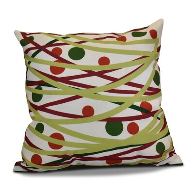 Doodle Decorations Throw Pillow Size: 16 H x 16 W, Color: Green