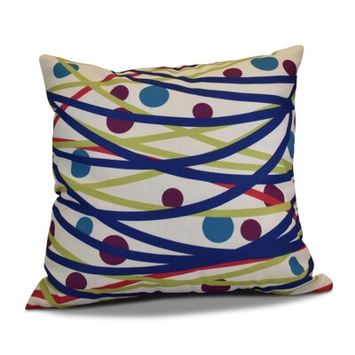 Doodle Decorations Outdoor Throw Pillow Size: 16 H x 16 W, Color: Royal Blue