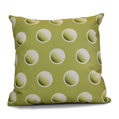 Dip Dye Dots Outdoor Throw Pillow Size: 16 H x 16 W, Color: Green