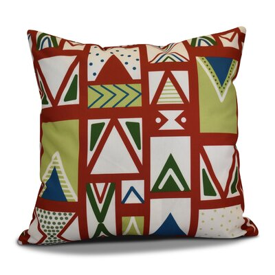 Christmas Outdoor Throw Pillow Size: 16 H x 16 W, Color: Red