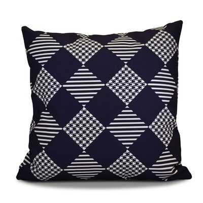 Decorative Geometric Throw Pillow Size: 20 H x 20 W, Color: Navy Blue