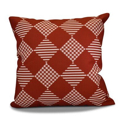 Decorative Geometric Throw Pillow Size: 16 H x 16 W, Color: Red