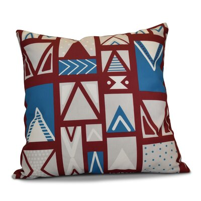 Decorative Geometric Throw Pillow Size: 20 H x 20 W, Color: Cranberry