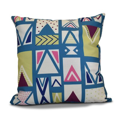Decorative Geometric Throw Pillow Size: 18 H x 18 W, Color: Teal