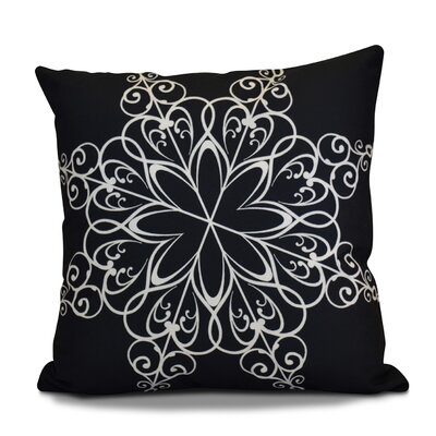 Decorative Holiday Print Throw Pillow Color: Navy Blue, Size: 18 H x 18 W