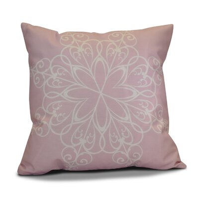 Decorative Holiday Print Throw Pillow Size: 18 H x 18 W, Color: Light Pink