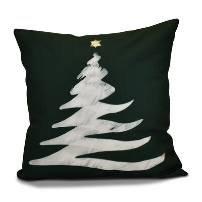 Decorative Holiday Print Throw Pillow Size: 26 H x 26 W, Color: Dark Green