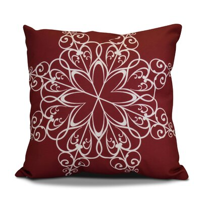 Decorative Holiday Print Throw Pillow Size: 26 H x 26 W, Color: Cranberry
