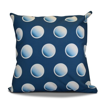 Dip Dye Dots Throw Pillow Color: Teal, Size: 18 H x 18 W