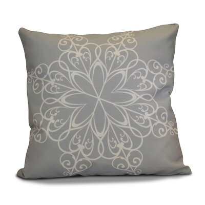 Decorative Holiday Print Throw Pillow Size: 26 H x 26 W, Color: Gray
