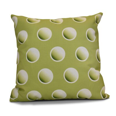 Dip Dye Dots Throw Pillow Size: 16 H x 16 W, Color: Green