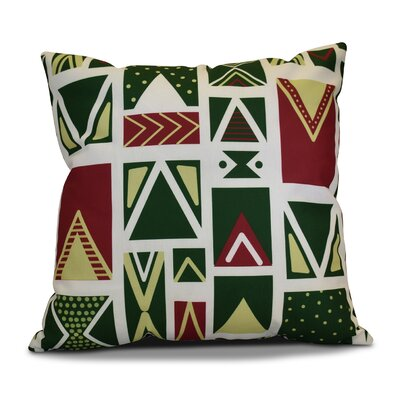 Decorative Geometric Throw Pillow Size: 16 H x 16 W, Color: White