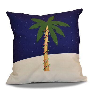 Decorative Christmas Geometric Print Outdoor Throw Pillow Size: 16 H x 16 W