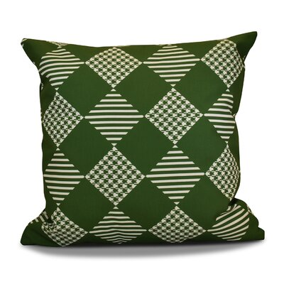 Decorative Geometric Throw Pillow Size: 20 H x 20 W, Color: Green