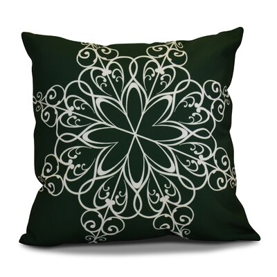 Decorative Holiday Print Throw Pillow Size: 18 H x 18 W, Color: Dark Green