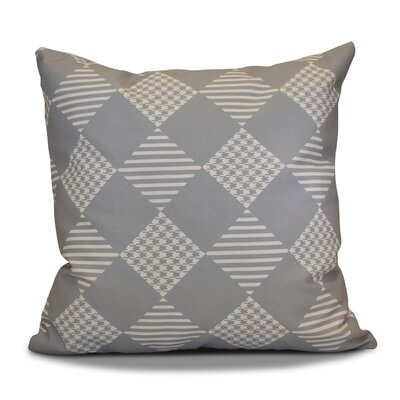 Decorative Geometric Throw Pillow Size: 18 H x 18 W, Color: Gray