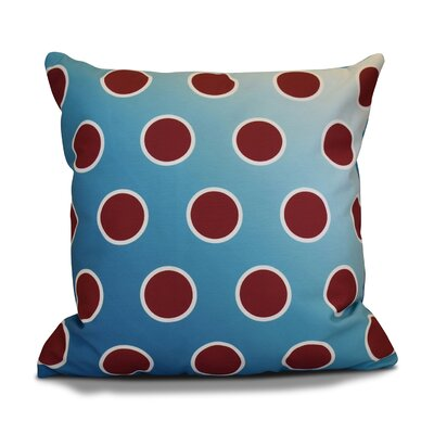Holiday Bubbly Throw Pillow Color: Teal, Size: 18 H x 18 W